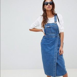 NWOT ASOS Denim MIDI overall Dress